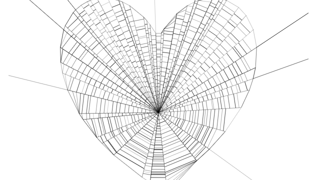 Spider Web heart