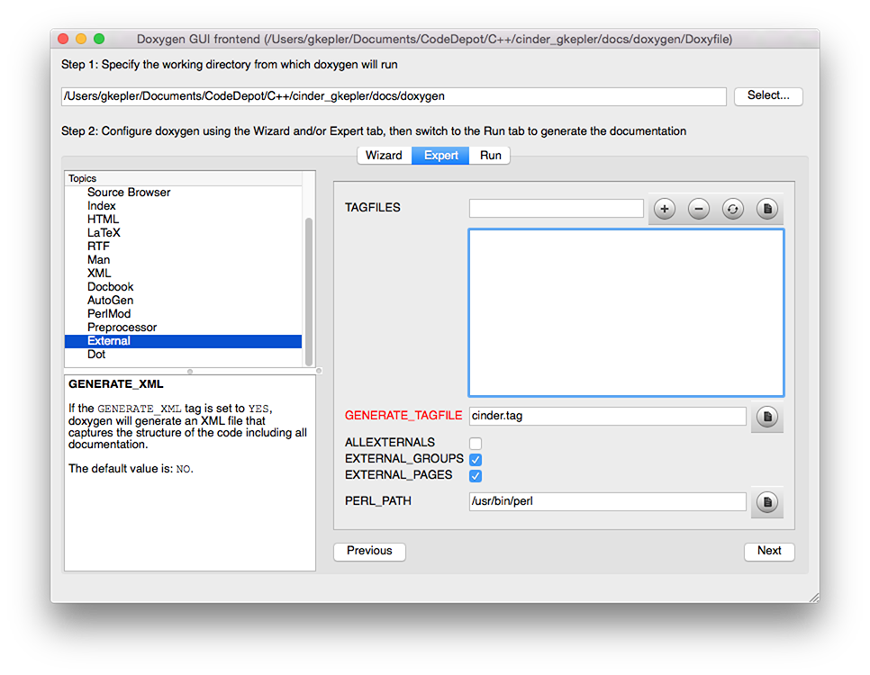 Doxygen Settings Tag File